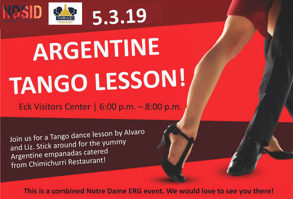 Thrive Ndsid Argentine Tango Flyer